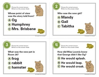 Friendship According to Humphrey Task Cards By Betty G. Birney