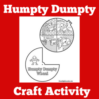 Humpty Dumpty Craft | Humpty Dumpty Activity | Nursery Rhymes Craft