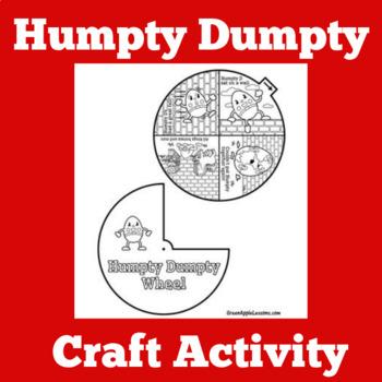 Humpty Dumpty Craft Humpty Dumpty Activity Preschool Craft Tpt
