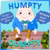 Humpty Dumpty Activity, Lesson Plan, Story, and Song