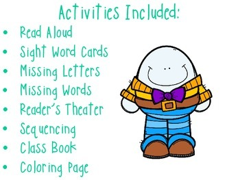 Humpty Dumpty - Activity Packet / Reader's Theater