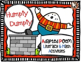 HUMPTY DUMPTY Adapted Poem...Literacy & Math Activities