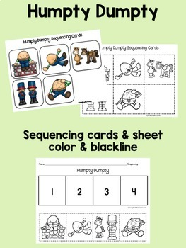 Humpty Dumpty Books & Sequencing Cards