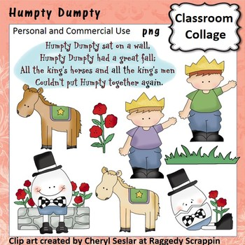 Humpty Dumpty Clip Art personal & commercial use C Seslar