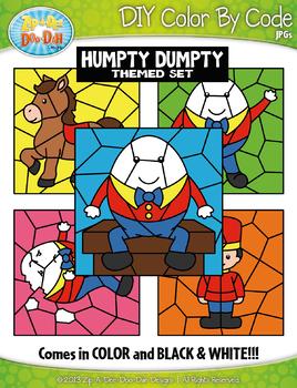 Humpty Dumpty Color By Code Clipart {Zip-A-Dee-Doo-Dah Designs}