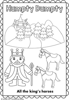 Humpty Dumpty Nursery Rhyme Coloring Pages
