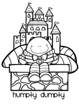 Humpty Dumpty Coloring Sheet