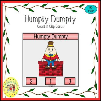 Humpty Dumpty Count and Clip Task Cards