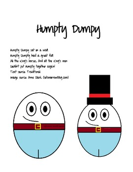 """""""Humpty Dumpty"""" Craft Stick Puppet Pattern"""