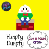 Nursery Rhymes Humpty Dumpty Cut and Paste Craft Template