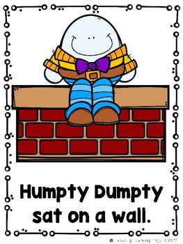 Humpty Dumpty (Emergent Reader, Teacher Lap Book, Picture Word Cards)
