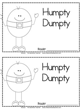 Humpty Dumpty Nursery Rhyme Emergent Reader & Class Poster