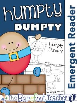 Humpty Dumpty Nursery Rhyme Emergent Reader & Class Poster