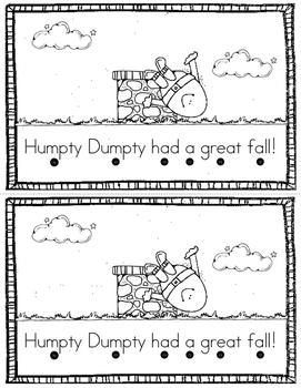 Humpty Dumpty Emergent Reader {Freebie}