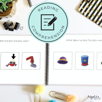 Humpty Dumpty Emergent Reader + Reading Comprehension