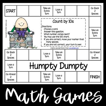 Humpty Dumpty Game--Counting by 10s