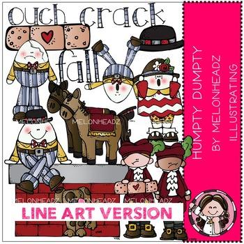 Humpty Dumpty clip art - LINE ART- by Melonheadz