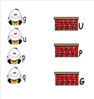 Humpty Dumpty Letter Match Smartboard Activity