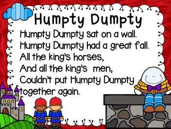 Humpty Dumpty Literacy Activities
