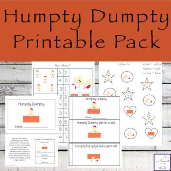 Humpty Dumpty Printable Pack
