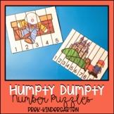 Humpty Dumpty Number Puzzles for Preschool-Kindergarten