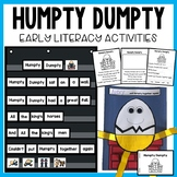 Humpty Dumpty Nursery Rhyme Activities and Craft