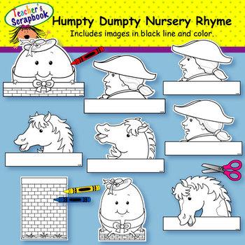 Humpty Dumpty Nursery Rhyme Headbands & Sentence Strips