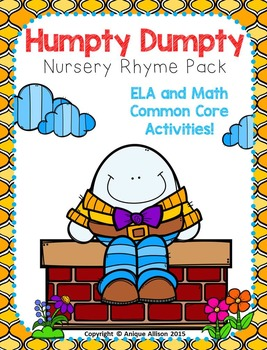 Humpty Dumpty Nursery Rhyme Pack!