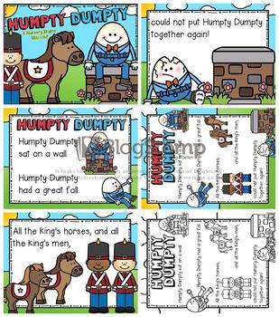 humpty dumpty nursery rhyme pdf