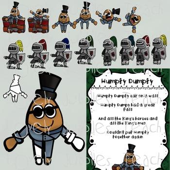 Humpty Dumpty Nursery Rhyme Themed Clip Art