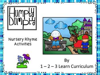 Humpty Dumpty Nursey Rhyme Magnet Activity