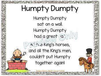 Build a Poem ~ Humpty Dumpty ~ Pocket Chart Center