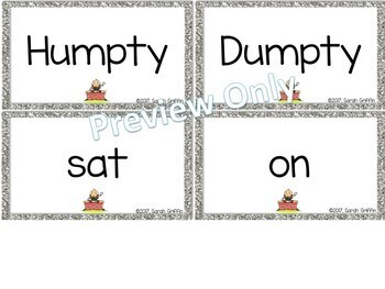 Build a Poem ~ Humpty Dumpty ~ Pocket Chart Center