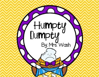 Humpty Dumpty Poem and Emergent Reader