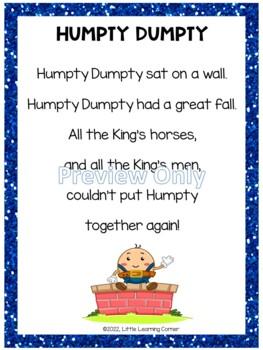 Humpty Dumpty Poetry Packet