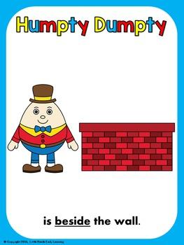 Humpty Dumpty Positional Language Posters