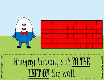 Humpty Dumpty Positional Word Book
