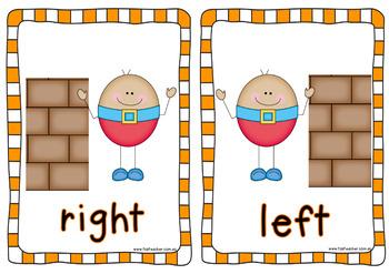 humpty dumpty positional word cards by top teacher tpt