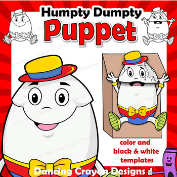 picture about Humpty Dumpty Printable known as Humpty Dumpty Puppet Printable Craft Game