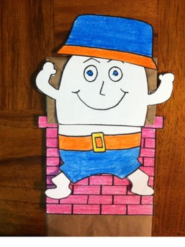 Humpty Dumpty Puppet and Rhyme in Spanish