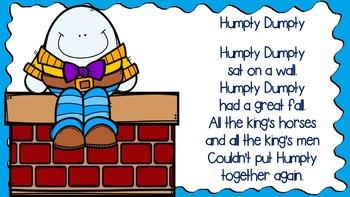 Humpty Dumpty Retell Packet