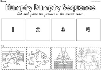 Humpty Dumpty Nursery Rhyme Sequencing By Little Hands