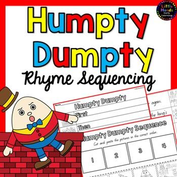 Humpty Dumpty Nursery Rhyme Sequencing