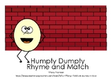 Humpty Dumpty Rhyme and Match