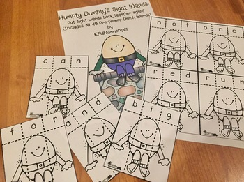 Humpty Dumpty Sight Words: Dolch Words Center or Small Group, RTI