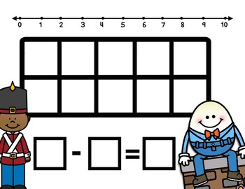 Humpty Dumpty Subtraction Task Cards