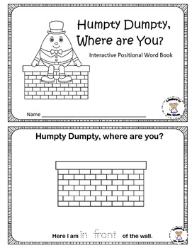 Positional Words - Humpty Dumpty, Where Are You?