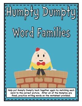 Humpty Dumpty Word Family File Folder Games