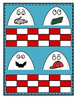 Humpty Dumpty Word Family File Folder Games