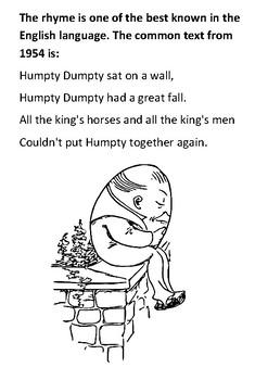 Humpty Dumpty Word Search